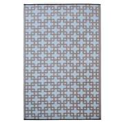 Fab Rugs Rheinsberg Powder Blue World Indoor/Outdoor Area Rug; 3' x 5'