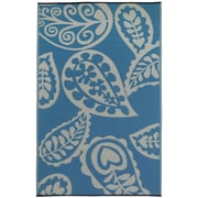 Fab Rugs Paisley River World Blue & White Indoor/Outdoor Area Rug; 3' x 5'