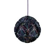 dCOR design Como 1 Light Globe Pendant; Blue