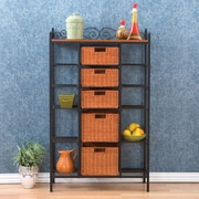 Wildon Home   Buttonwood Scrolled Kitchen Storage Rack