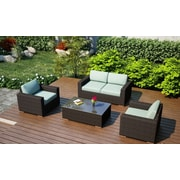 Harmonia Living Arden 4 Piece Deep Seating Group with Cushion; Canvas Spa