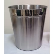 Fashion Home Round Stainless Steel Wastebasket