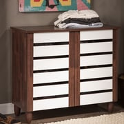Wholesale Interiors Baxton Studio Gisela 9-Pair Shoe Storage Cabinet