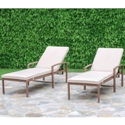 Creative Living Cedar Cove Chaise Lounge with Cushion (Set of 2)
