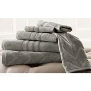 Amrapur 6 Piece 100pct Cotton Towel Set; Gray