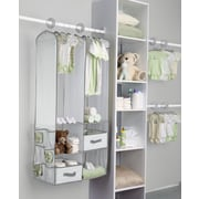 Delta Children Deep Nursery Closet Organizer 24 Piece Set; Dove Gray