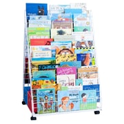 Classroom Innovations LLC Back To Back Multi Level Double Side 29 Compartment Book Display w/ Trays