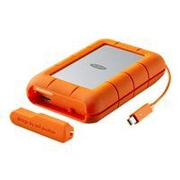 Seagate LaCie Rugged RAID 9000601 4TB USB 3.0 Portable Hard Drive, Gray/Orange
