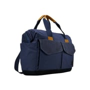 "Case Logic ® LoDo Blue Cotton Canvas 15"" to 16"" Laptop Satchel (LODB115BLUE)"