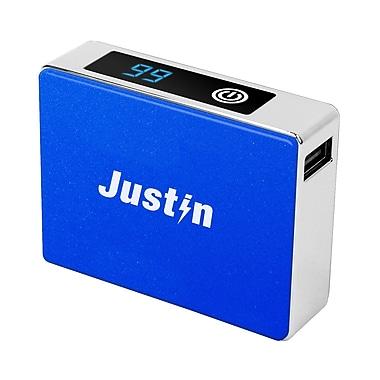 Justin 5200mAh Power Bank with LCD Display, Blue