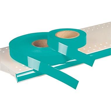 Kostklip® – Bandelette-étiquette ShelfLife™ pour porte-prix, non imprimées, 1,25 po, sarcelle, 500 pi/rouleau (26SL-100964)