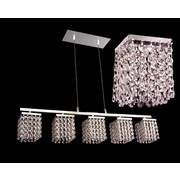 Classic Lighting Bedazzle 5 Light Linear Chandelier; Swarovski Elements Rosaline Pink & Clear
