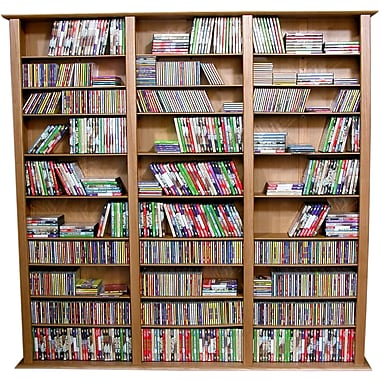 Venture Horizon VHZ Entertainment Large Triple Multimedia Storage Rack; Walnut