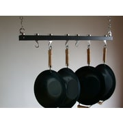 Taylor & Ng Track Rack Ceiling Pot Rack; Anthracite Grey Wood