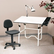 Alvin and Co. Creative Melamine Drafting Table System; Pneumatic Office