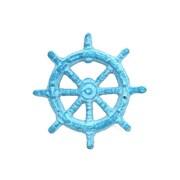 Handcrafted Nautical Decor Ship Wheel Bottle Opener; Light Blue