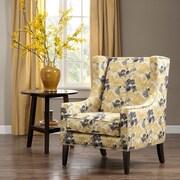 Madison Park Barton Wing Chair; Yellow Multi