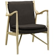 Modway Makeshift Upholstered Lounge Chair; Natural/Brown