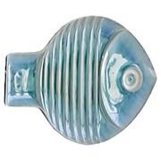 Global Views Blue Fish Plate Wall D cor; Medium