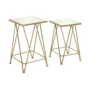 Woodland Imports 2 Piece Attractive End Table Set