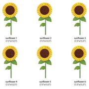My Wonderful Walls Sunflowers Wall Decal (Set of 6)