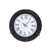 Handcrafted Nautical Decor Deluxe Class 20'' Porthole Clock; Oil Rubbed Bronze