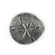 Handcrafted Nautical Decor Cast Iron Sand Dollar Decorative Plate; Antique Silver