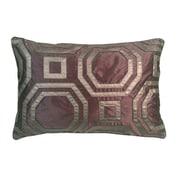 Edie Inc. Metallic Hexagon Laser Lumbar Pillow; Amethyst