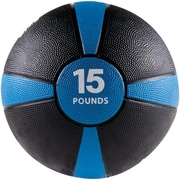 GOFIT Medicine Ball, 15lbs, Black and Blue (GOFGFMB15)