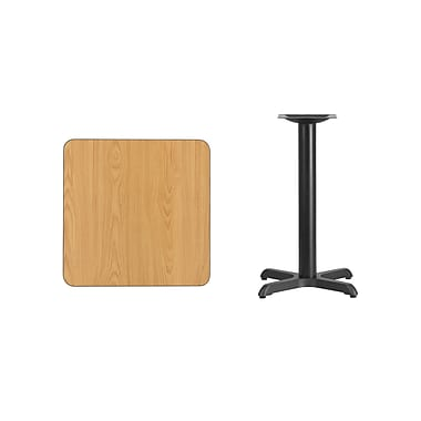 Flash Furniture – Table carrée en stratifié au fini naturel de 24 po avec base de 22 x 22 po (XUNT2424T2222)
