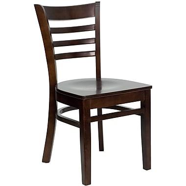 Flash Furniture – Chaise de restaurant HERCULES en bois à traverses horizontales, fini noyer, 2/boîte (XUDGW0005LADWAL)