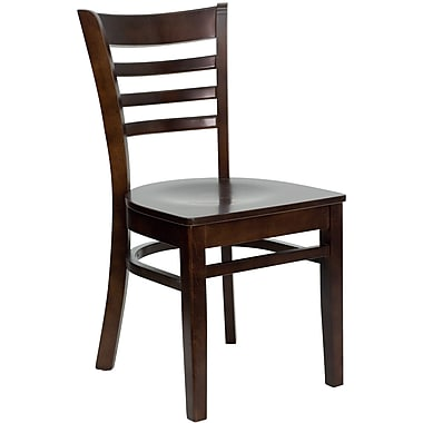 Flash Furniture Hercules Series Ladder Back Wooden Restaurant Chair, Walnut Finish, (XUDGW0005LADWAL)