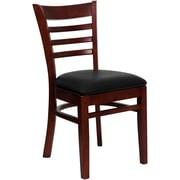 Flash Furniture  Hercules Series Ladder-Back Wood Restaurant Chair, Mahogany Finish with Black Vinyl Seat (XUDGW5LADMAHBKV)