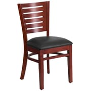 Flash Furniture Darby Series Slat Back Mahogany Wooden Restaurant Chair (XUDGW018MAHBKV)