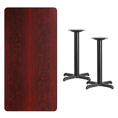 Flash Furniture – Table en stratifié acajou de 30 x 60 po avec 2 bases de 22 po (XUMA3060T2222)