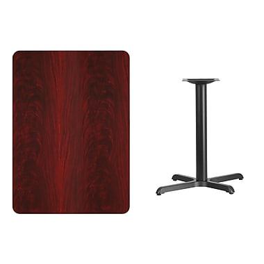 Flash Furniture 30'' x 42'' Rectangular Laminate Table Top, Mahogany with 22'' x 30'' Table-Height Base (XUMA3042T2230)