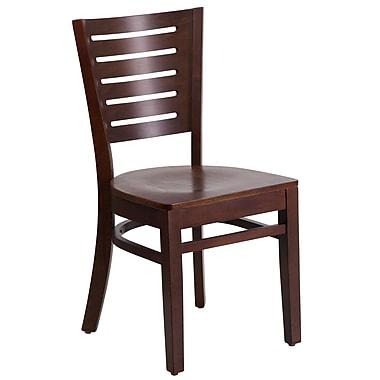 Flash Furniture – Chaise de restaurant Darby à dossier ajouré, noyer (XUDGW018WAL)