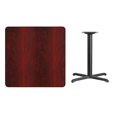 Flash Furniture – Table carrée en stratifié acajou de 36 po avec base de 30 x 30 po (XUMA3636T3030)