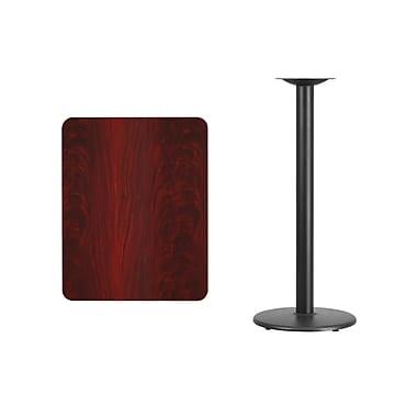 Flash Furniture – Table bistro en stratifié acajou de 24 x 30 po avec base circulaire noire de 18 po (XUMA2430TR18B)