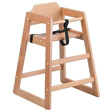 Flash Furniture Hercules Series Stackable Baby High Chair, Natural (XUDGW0024NAT)