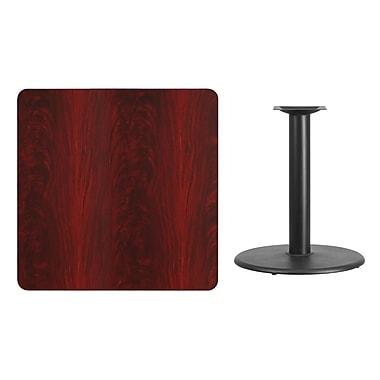 Flash Furniture – Table carrée en stratifié noyer de 36 po avec base circulaire de 24 po (XUMA3636TR24)