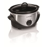 Hamilton Beach  4 qt Slow Cooker, Silver/Black (33141)