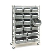 Seville Classics Classics 14'' Deep Commercial 7 Shelf Bin Rack Storage System