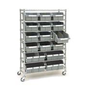Seville Classics Classics 14'' Deep Commercial 7 Shelf Bin Rack Storage System