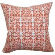 The Pillow Collection Silvia Floral Cotton Throw Pillow; 18'' x 18''