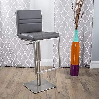 Matrix Dimaz Adjustable Height Swivel Bar Stool with Cushion; Grey