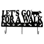 DEI Lucky Dog ''Let's Go for a Walk'' Leash Wall Hook Rack