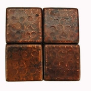 Premier Copper Products 2'' x 2'' Hammered Copper Tile in Oil Rubbed Bronze