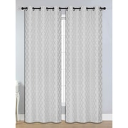 Bella Luna Quattro Room Darkening Grommet Thermal Curtain Panels (Set of 2); Silver