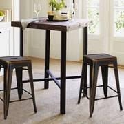 AdecoTrading 24'' Bar Stool (Set of 2); Brown